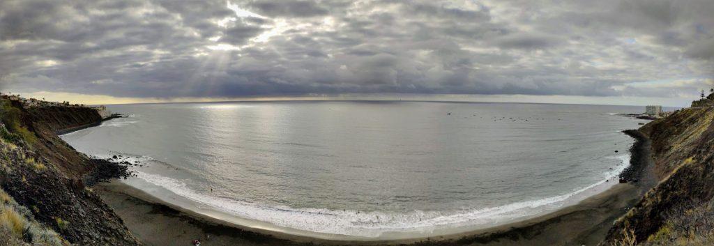 Panorámica de la Playa del Arenal en Tenerife