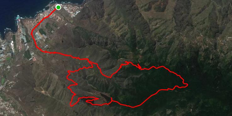 Route Kreisweg von Bajamar