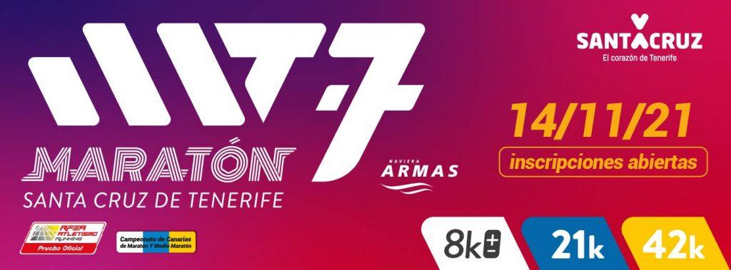 Portada oficial de la Maratón de Tenerife 2021